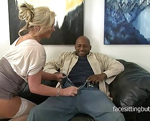 Horny cougar has a thing for giant black weenies