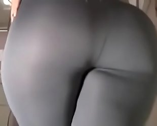 Spicy j yoga pants tear fake pecker ride