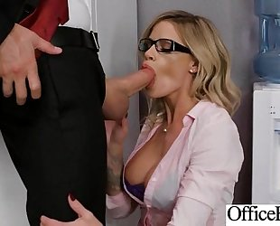 Round big milk sacks BBC floozy (jessa rhodes) get team-fucked in office clip-28