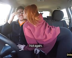 German Redhead gives a Hot Blowjob