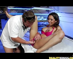Nataly Rose gets her sweet pussy pounded by the infamous Milf Hunter