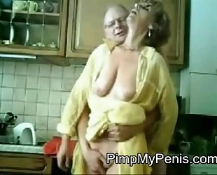 old couple having fun in cithen