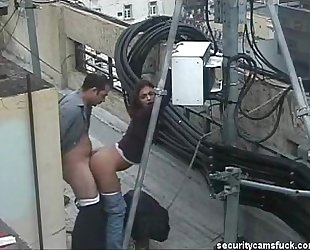 Spy Cam Catch Fucking on Roof Top