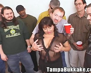 Susie'_s Gang Bang Bukkake Party