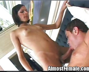 T-girl Fucks Her Boyfriend'_s Ass