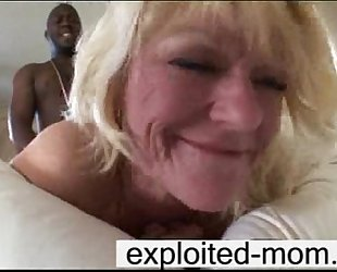 Old mature with missing teeth taking black cock