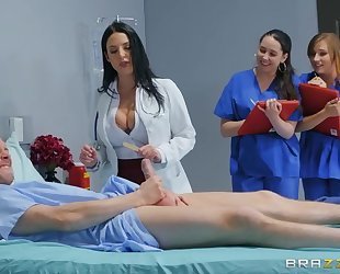 Gorgeous doctor teaches interns to fuck in a hardcore way