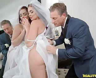 Anxious stud fucks his daughter-in-law before wedding
