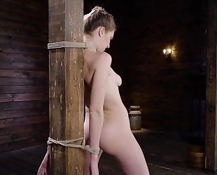 Blonde nympho Ashley Lane gets dominated by bearded master