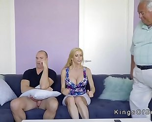Huge brassiere buddies stepmom helps guy with boner